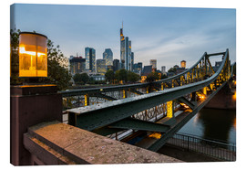 Canvas print  Frankfurt Iron Bridge - rclassen