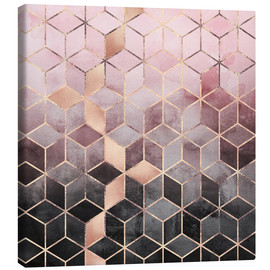 Canvas print  Pink And Grey Gradient Cubes - Elisabeth Fredriksson