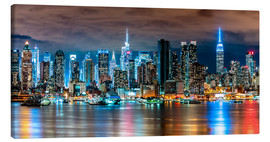 Canvas print  Midtown Skyline by Night, New York - Sascha Kilmer