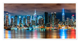 Premium poster Midtown Skyline by Night, New York