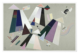 Premium poster  Untitled (Composition with Grey Background) - Wassily Kandinsky