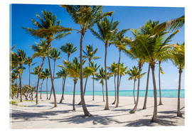 Acrylic print  Juanillo Beach, Cap Cana, Punta Cana, Dominican Republic, West Indies, Caribbean, Central America - Jane Sweeney