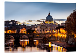 Acrylic print  St. Peter's Basilica at sunset - Reynold Mainse