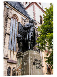 Acrylic print  Bach Monument in Leipzig