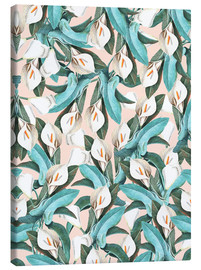 Canvas print  Exotic Florals - Uma 83 Oranges