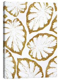 Canvas print  Monstera Gold - Uma 83 Oranges