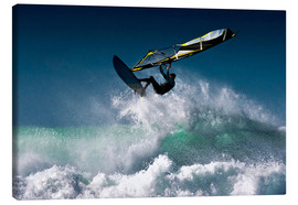 Canvas print  Windsurfer in the air - Ben Welsh