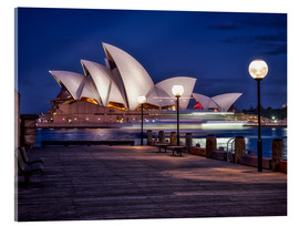 Acrylic print  A boat passes through the Sydney Opera House - Jim Nix