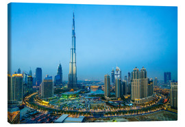 Canvas print  Burj Khalifa and Downtown Dubai at dusk - Fraser Hall