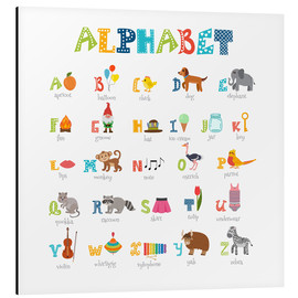 Aluminium print  Cheerful alphabet (English) - Typobox