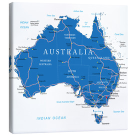 Canvas print  Australia - Political Map