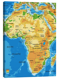 Canvas print  Africa - Topographic Map