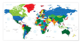 Premium poster  World political map (2006)