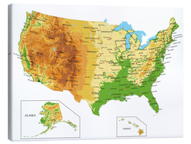Canvas print  Topographic Map of USA