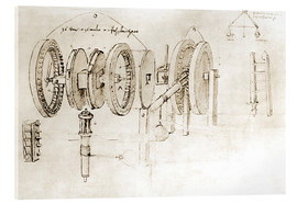 Acrylic print  Mechanical design - Leonardo da Vinci