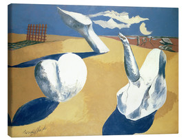 Canvas print  Stranded figures into the sunset - Paul Nash