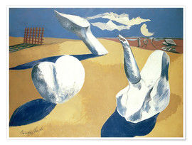 Premium poster  Stranded figures into the sunset - Paul Nash