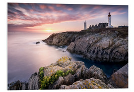 Foam board print  Lighthouse of St. Mathieu (France / Brittany) - Kristian Goretzki