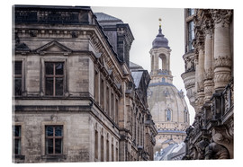 Acrylic print  Overlooking the Frauenkirche in Dresden (Germany) - Christian Müringer