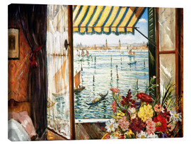 Canvas print  Looking out a window in Venice - Christopher Nevinson