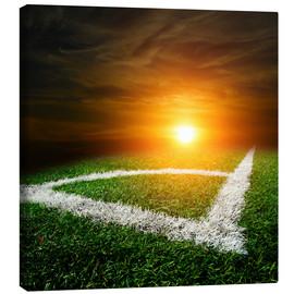 Canvas print  Corner on the football field