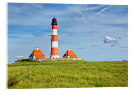 Acrylic print  Westerhever Lighthouse, North Sea coast