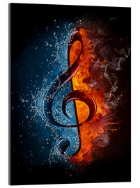 Acrylic print  Fire and water music