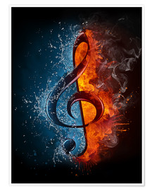 Premium poster  Fire and water music