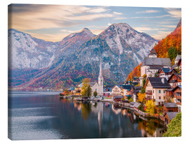 Canvas print  Hallstatt, Austria in the Autumn - Mike Clegg Photography
