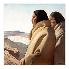 Premium poster  Men of the Red Earth - Maynard Dixon