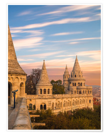 Premium poster  Fishermans Bastion, Budapest - Mike Clegg Photography