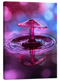 Canvas print  High-speed water droplets with Bokeh - Stephan Geist