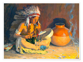 Premium poster  The chief song - Eanger Irving Couse