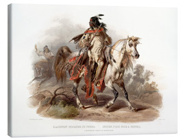 Canvas print  A Blackfoot indian on horseback - Karl Bodmer