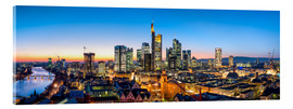 Acrylic print  Skyline panorama from Frankfurt - Jan Christopher Becke