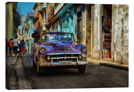 Canvas print  Taxi in alley