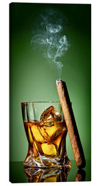 Canvas print  Cigar on the rocks
