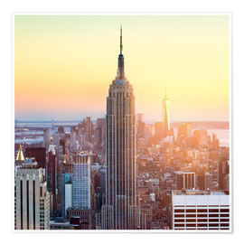 Premium poster  Empire State Building in New York City at sunset - Jan Christopher Becke