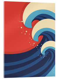 Acrylic print  The Great Wave