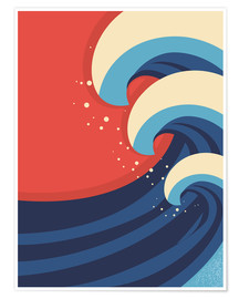 Premium poster  The Great Wave