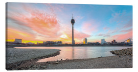 Canvas print  Sunrise in Dusseldorf II - Michael Valjak