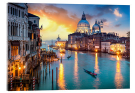 Acrylic print  Grand Canal at sunset in Venice, Italy - Jan Christopher Becke