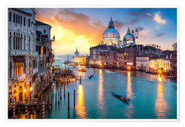 Premium poster  Grand Canal at sunset in Venice, Italy - Jan Christopher Becke