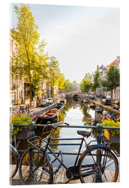 Acrylic print  Amsterdam canal - Dieterich Fotografie