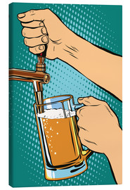 Canvas print  draw beer