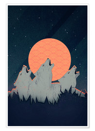 Premium poster  Howling Moon - Romina Lutz