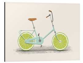 Aluminium print  Lime Bike - Florent Bodart