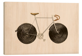 Wood print  Licorice Bike - Florent Bodart