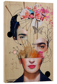 Wood print  Frida for Beginners - Loui Jover