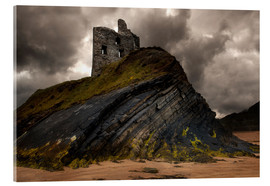 Acrylic print  Ruined castle in Ballybunion, Ireland - Jaroslaw Blaminsky